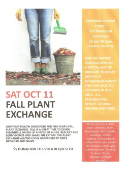 FALL PLANT EXCHANGE AND MASTER PROPAGATORS SALE
