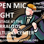 EVERY SATURDAY – OPEN MIC  NIGHT